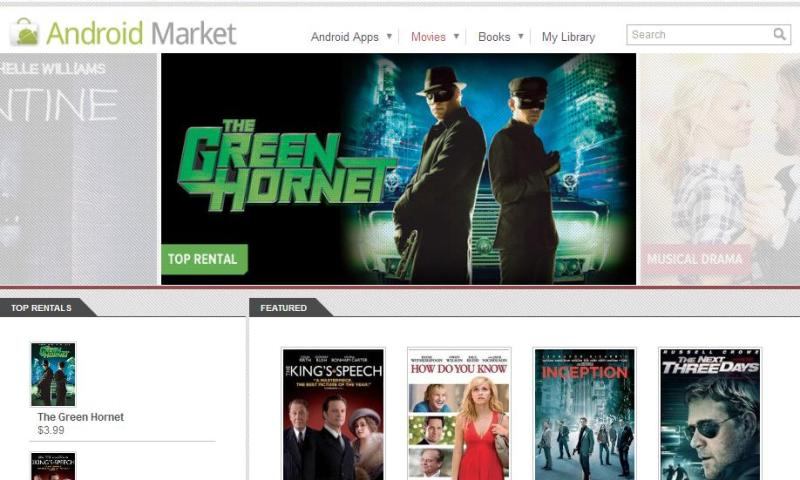 Android Market Movies