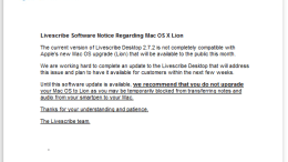 GearDiary Livescribe Issues Mac OS X 'Lion' Compatibility Warning - Don't Upgrade Yet!