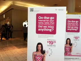 T-Mobile Working Hard (At Apple Stores) To Fight Lack of iPhone  T-Mobile Working Hard (At Apple Stores) To Fight Lack of iPhone
