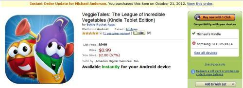 Veggie Tales App Issue
