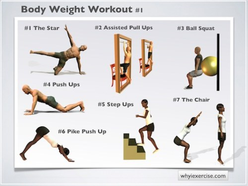 Workout Indoors with BodyWeight Exercises - The Monday Mile