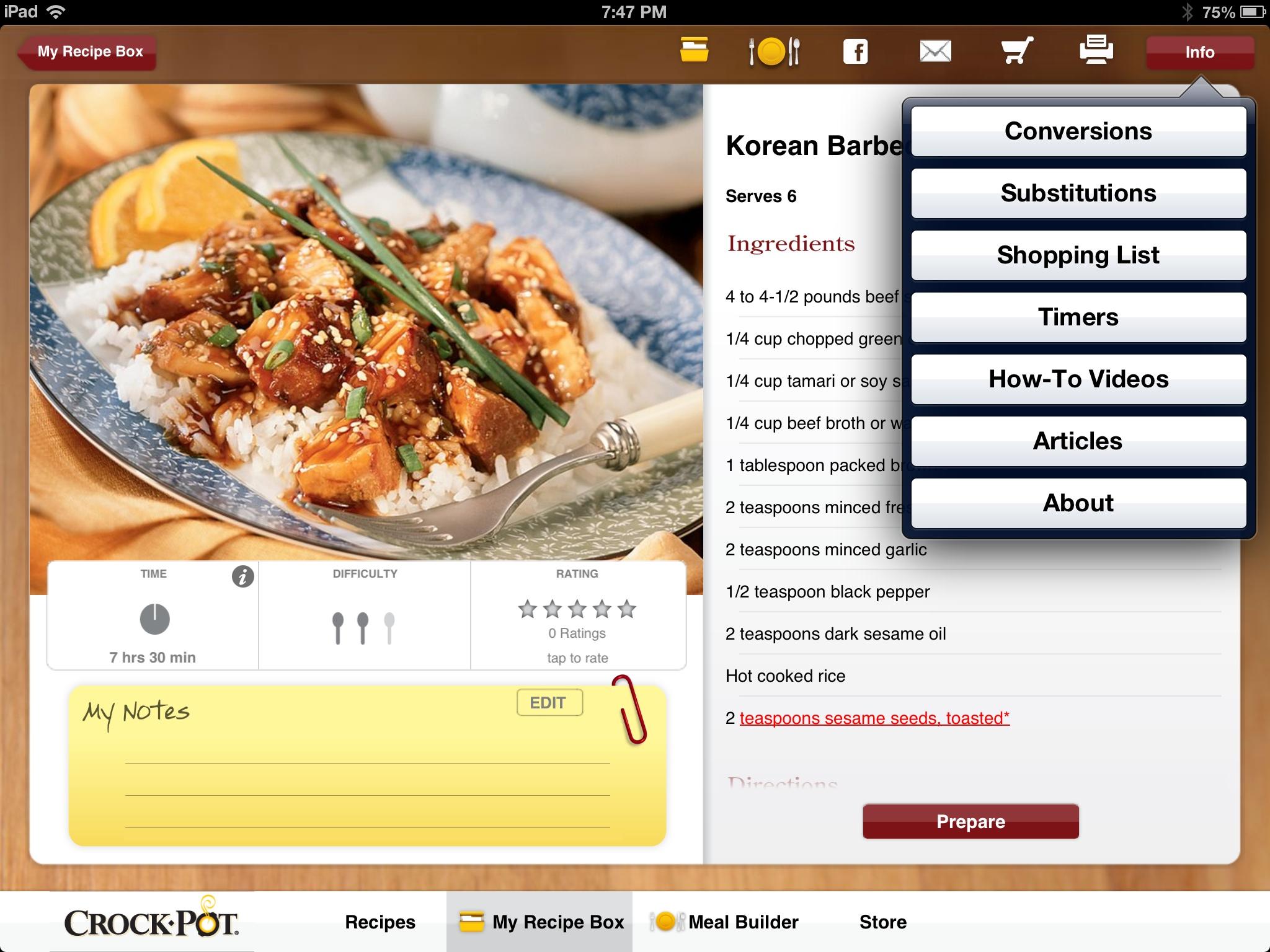 Crock pot recipe app review geardiary geardiary crock pot recipe app review forumfinder Choice Image