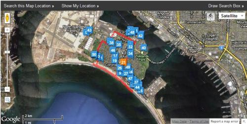 Coronado Run Maps