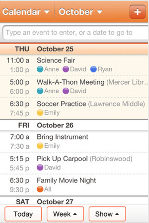 Cozi Family Organizer for iPhone and iPad