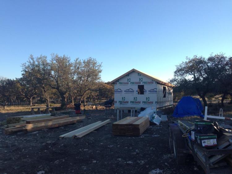 Cabin construction underway