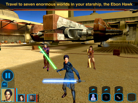 Star Wars Knights of the Old Republic for iPad a Retro Romp Review  Star Wars Knights of the Old Republic for iPad a Retro Romp Review  Star Wars Knights of the Old Republic for iPad a Retro Romp Review
