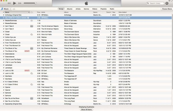 Clean Up iTunes with 'Show EXACT Duplicate Items' Command