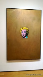 An Andy Warhol Marilyn Monroe silkscreen; notice how golden the golds are?