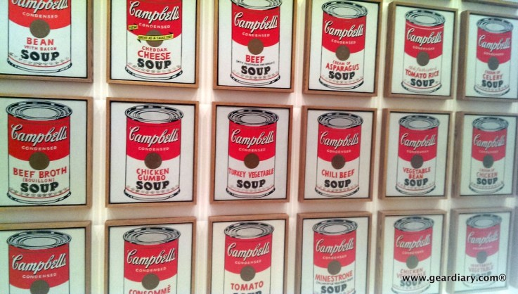Andy Warhol soup cans ...