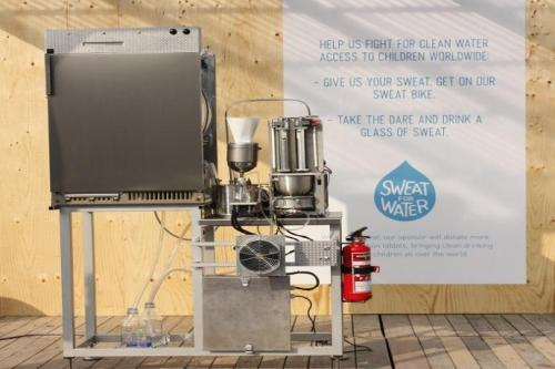 GearDiary Sweat Machine from UNICEF Turns Perspiration into Drinking Water