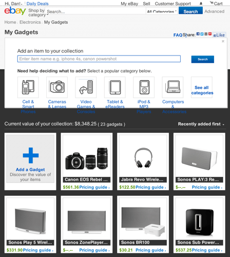 eBay My Gadgets Lets You Track and Sell Your Gadgets With Ease