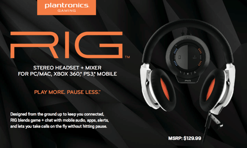 GearDiary Plantronics Gaming Throws Down with Their New RIG Headset