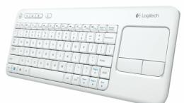 GearDiary Logitech's Wireless Touch Keyboard K400 Now in White