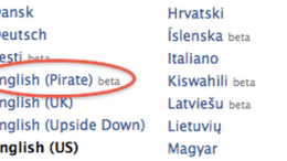Facebook Lets You Set Your Language to 'Pirate' for Talk Like a Pirate Day!
