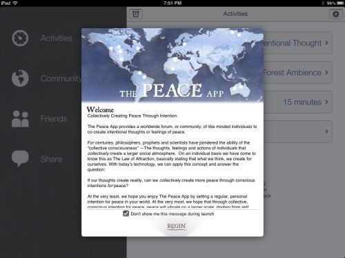 The Peace App Brings Serenity to Your iOS Device  The Peace App Brings Serenity to Your iOS Device