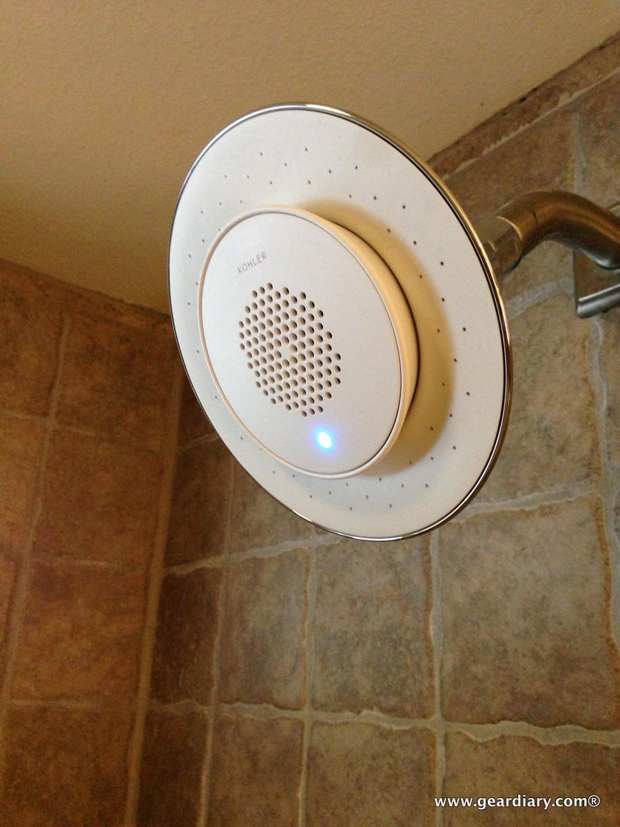 kohler moxie showerhead wireless speaker review stream music u0026 news while you shower kohler