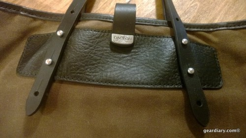 Oberon Design Waxed Canvas and Leather Everyday Tote