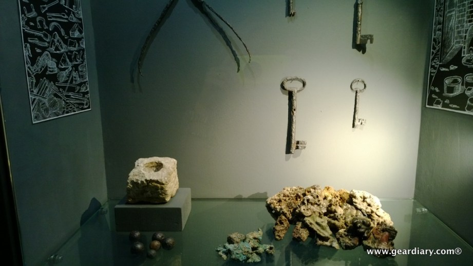 Various tools and artifacts are on display ...
