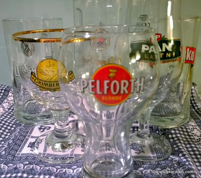 A portion of the glasses I collected as souvenirs on our trip. =)