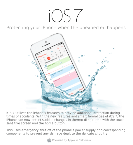iOS 7 Doesn't Make Your Phone Waterproof