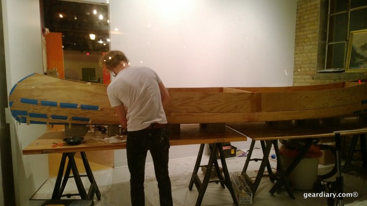 I saw a guy building a canoe by hand in a storefront window. That was kind of random, right?