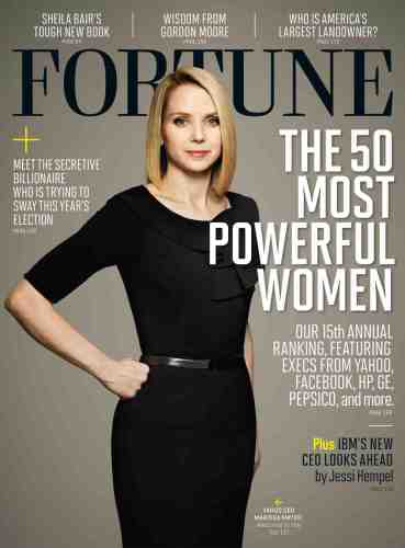 Marissa Meyer on the cover of Fortune Magazine