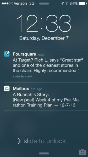 Foursquare's New 'Passive Notification' System in Action!