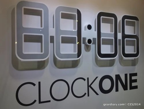 ClockOne E-Ink Wall Clock Puts Time on a Diet