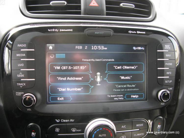 Voice recognition screen