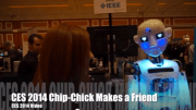 GearDiary Chip-Chick and a Robot Share a CES 2014 Moment