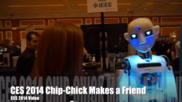 Chip-Chick and a Robot Share a CES 2014 Moment