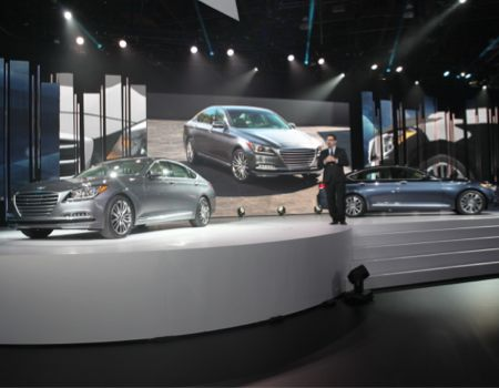 Hyundai hosted the world premiere of its 2015 Genesis sedan