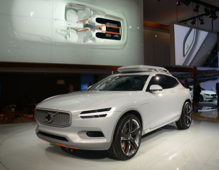 Volvo wrapped up Day One at NAIAS with its Concept XC Coupe unveiling