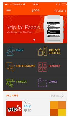 Pebble Smartwatch's New App Store Coming Today  Pebble Smartwatch's New App Store Coming Today  Pebble Smartwatch's New App Store Coming Today