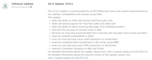 OS X 10.9 Users - Your Critical Security Update Awaits