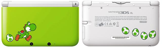 Yoshi Edition Nintendo 3DS XL System/Yoshi's New Island Releases