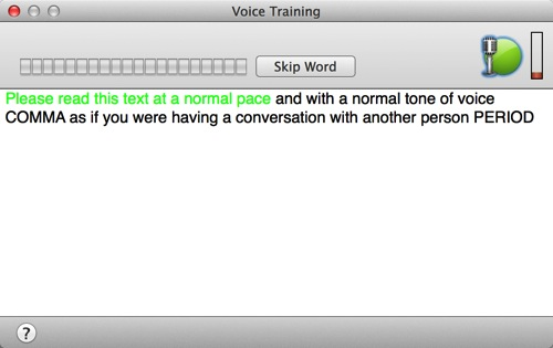 Screenshot Dragon Dictate 4 Voice Training