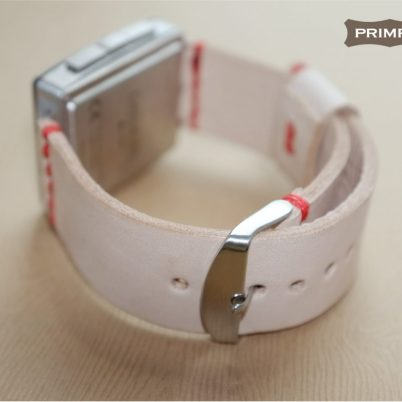 pebble steel strap -- replacement natural leather