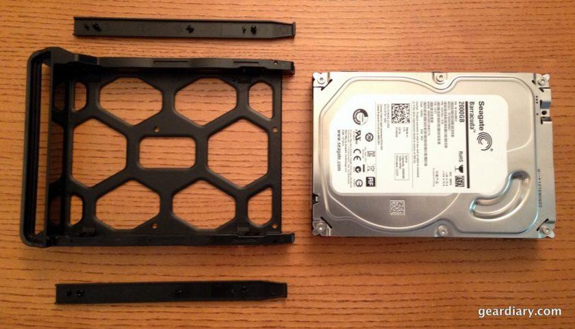 "The ""tool-less"" hard drive enclosure."