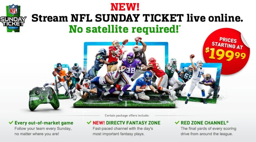 DirecTV NFL Sunday Ticket Returns to Gaming Consoles