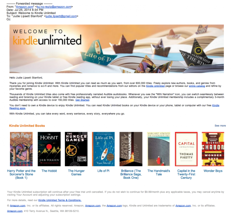 Amazon's Kindle Unlimited Isn't Quite Unlimited