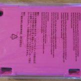The pink rubberized foam case