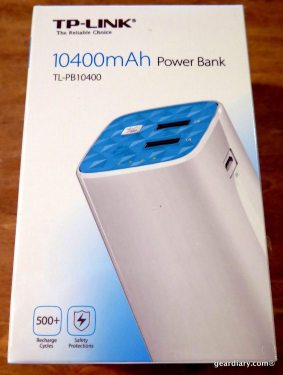 Gear Diary Reviews the TP-LINK 10400mAh Power Bank