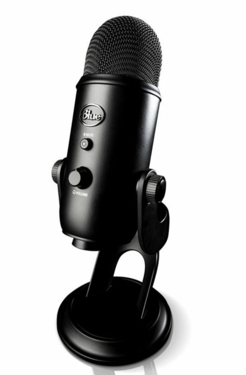 GearDiary This Blackout Yeti Microphone from Blue Is Gorgeous