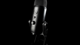This Blackout Yeti Microphone from Blue Is Gorgeous