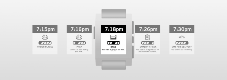 Track your Domino's Pizza Order from Your Pebble Watch