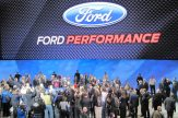 Media mob the Ford stage