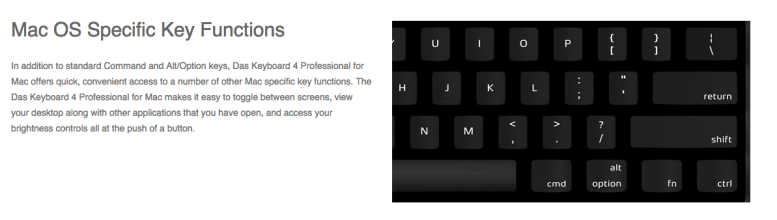 GearDiary Das Keyboard 4 Professional for MAC up for Pre-Order: $ 175