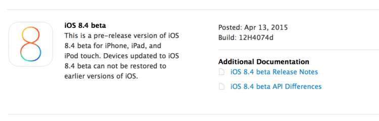 Apple's Released the First Beta of iOS 8.4