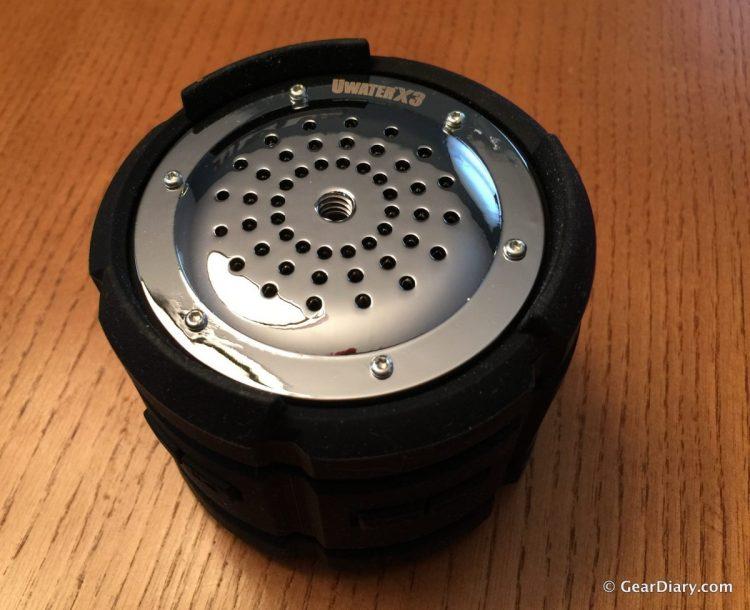 The bottom of the speaker.